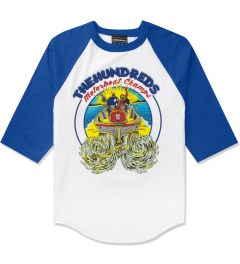 The Hundreds Royal/White Motorboat Baseball ¾ Sleeve T-Shirt Picutre