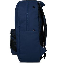 Stussy Blue World Tour Backpack Model Picutre