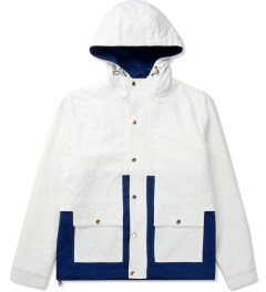Shades of Grey by Micah Cohen Off White/Classic Blue Colorblock Sailing Jacket Picutre