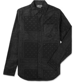 The Hundreds Black Coast Button Up Woven Shirt Picutre