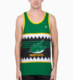 Undefeated Green Jaw Tank Top Model Picutre