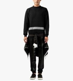 AMH Black Reflective Staff Sweater Model Picutre