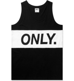ONLY Black/White Logo Sports Tank Top Picutre