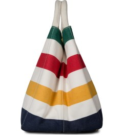 Hudson's Bay Company Multistripe City Tote Bag Model Picutre