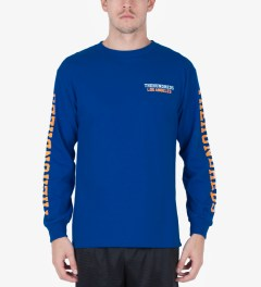 The Hundreds Royal Blue Sunnyside L/S T-Shirt Model Picutre