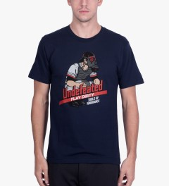 Undefeated Navy Catcher T-Shirt Model Picutre