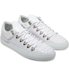 Filling Pieces White Mountain Cut Python Shoes Model Picutre