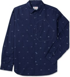 Garbstore Navy Hidden Map Pockets Shirt Picutre