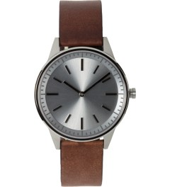 Uniform Wares Brushed / Walnut Brown 250 Series Wristwatch Picutre