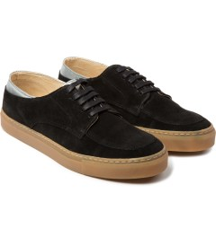 E.R SOULIERS DE SKATE Black Metal Leather Suede Model Picutre