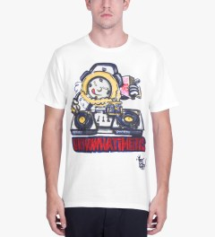 Stussy White Phade DJ Time T-Shirt Model Picutre