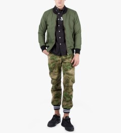 FTC Khaki BOMBER JACKET Model Picutre