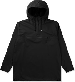 RAINS Black Anorak Jacket Picutre