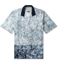 Casely Hayford Broken Ice Print Hawaii S/S Shirt W/ Open Rib Collar Picutre