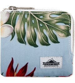 Penfield Blue Palm Print Lostville Zip Wallet Picutre