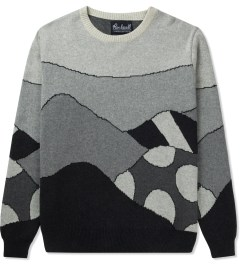 Rockwell by Parra Jacquard Grey Hills Knitted Pullover Sweater Picutre