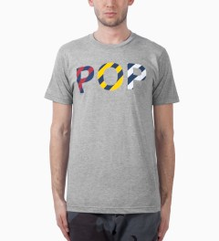 Mark McNairy Grey Pop T-Shirt Model Picutre