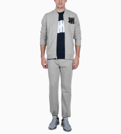Undefeated Grey Heather Capitol Sweatpants Model Picutre