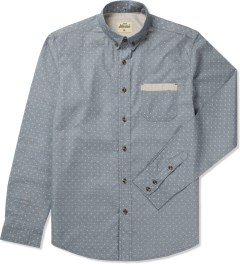 Jiberish Grey Chamby Polka L/S Button Down Shirt Picutre