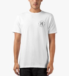 HUF White Strike Out S/S T-Shirt Model Picutre