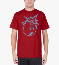 The Hundreds Red Magic Eye Adam T-Shirt Model Picutre