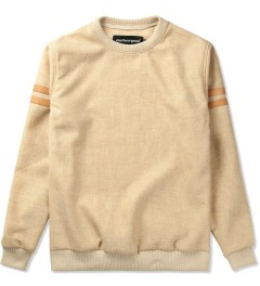 clothsurgeon Beige S/S Tweed Wool Stripe Sweater Picutre