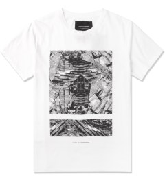Tourne de Transmission White Shatter Split Box Print T-Shirt Picutre