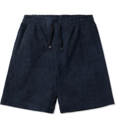 clothsurgeon Navy Goat Suede Basketball Shorts Picutre