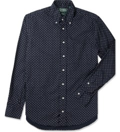 Gitman Bros. Vintage Navy Flower Print  Vintage Button Down Shirt Picutre