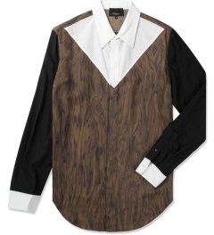 3.1 Phillip Lim Redwood Combo Panel L/S Button Up Shirt Picutre