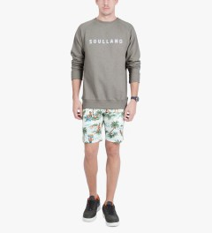 Soulland Grey Melange with White/Multicolor PF14 Capitals Sweat Sweater Model Picutre