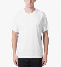 The Quiet Life White Front Premium Sohl Watercolor T-Shirt Model Picutre