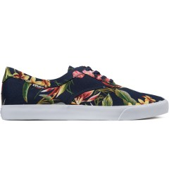HUF Navy Floral Cotton Canvas Sutter Shoes Picutre