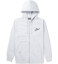 The Hundreds Athletic Heather Forever Slant Zip Up Hoodie Picutre