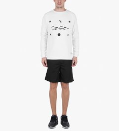 Libertine-Libertine White/Black Grill Space Sweatshirt Model Picutre