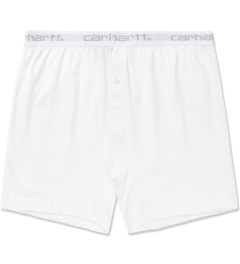 Carhartt WORK IN PROGRESS White Jersey Trunk Shorts Picutre