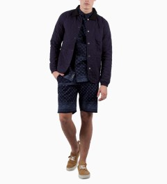 Grand Scheme Navy Bandana Short Model Picutre