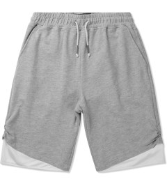 3.W.Y Grey Fadeaway Shorts Picutre