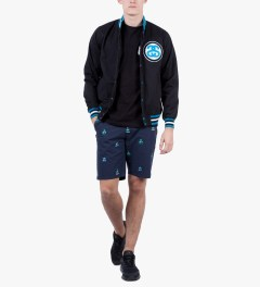 Stussy Dark Navy Catamaran Short Model Picutre