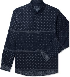 Grand Scheme Navy Bandana L/S Shirt Picutre