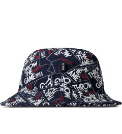Undefeated Navy Throw Bucket Hat Model Picutre