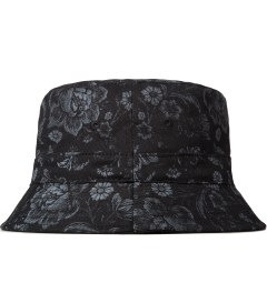 10.Deep Black Thompson Bucket Hat Model Picutre