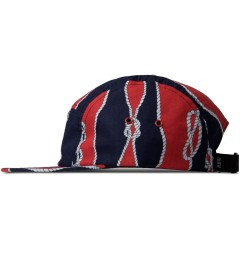 Raised by Wolves Red/Navy Sailor's Knot Algonquin 5-Panel Cap Model Picutre