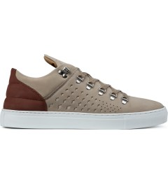 Filling Pieces Beige/Red Mountain Cut Gradient Perforated Shoe Picutre