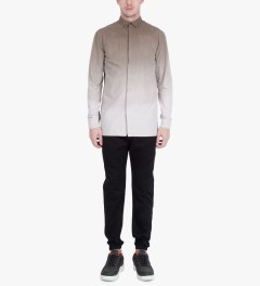 SILENT Damir Doma Brown Serin Basic Gradient Shirt Model Picutre