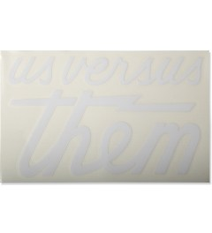 Us Versus Them White Big Magnum Decal Sticker Picutre