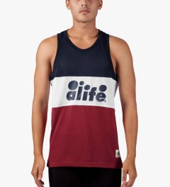 ALIFE Red Bubble Block Tank Top Model Picutre