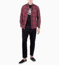 FTC Red Ombre Plaid Nel B.D Shirt Model Picutre