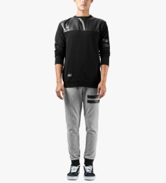 Grand Scheme Grey Quilted Track Pants Model Picutre