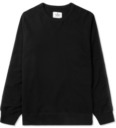 Reigning Champ Black RC-3272 Knit Lightweight Terry Crewneck Sweater Picutre